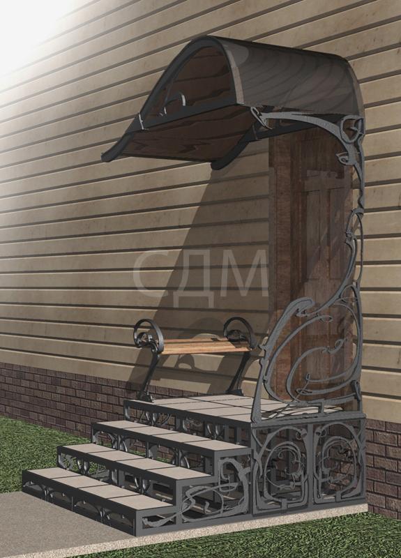 Кованое крыльцо дома фото